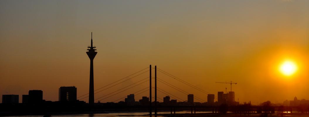 Düsseldorf Sonnenuntergang