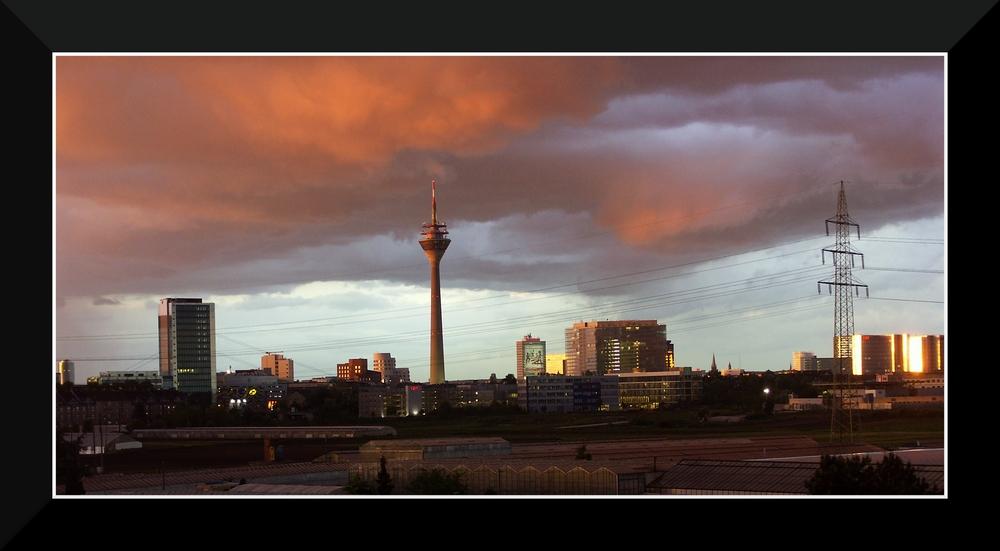 Düsseldorf von meinem Balkon aus