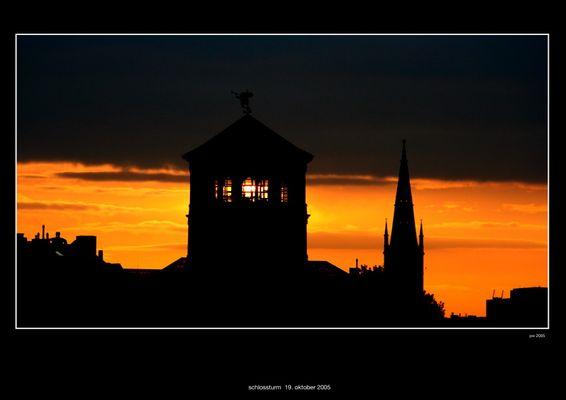 Düsseldorfer Silhouette vor der Morgensonne (gestern)
