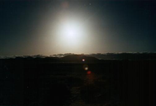Düstere Sonne