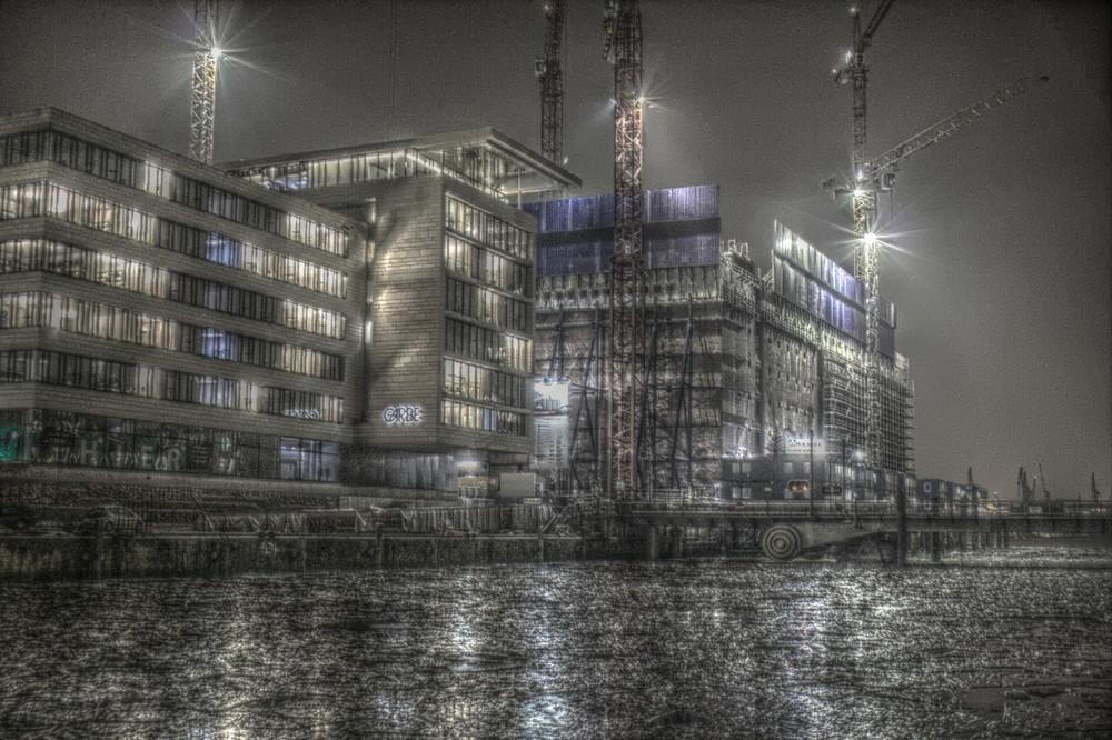 düsterer Hafen