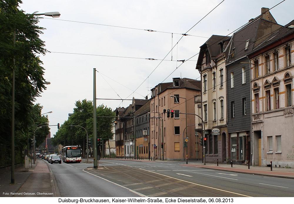 Duisburg-Bruckhausen, Kaiser-Wilhelm-Straße, Ecke Dieselstraße