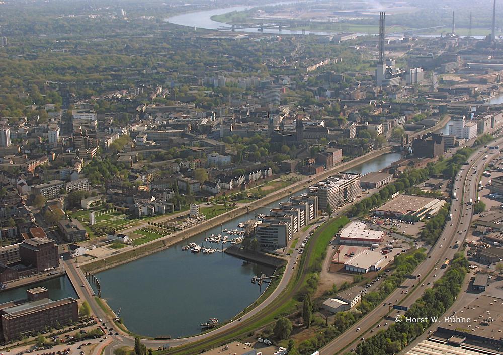 duisburg innenhafen u innenstadt a40 foto bild