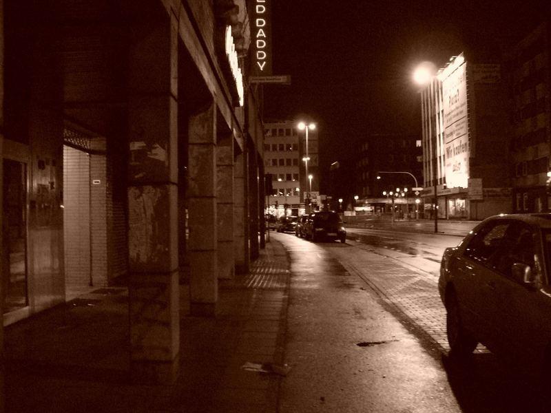 Duisburg, mitten in der Nacht