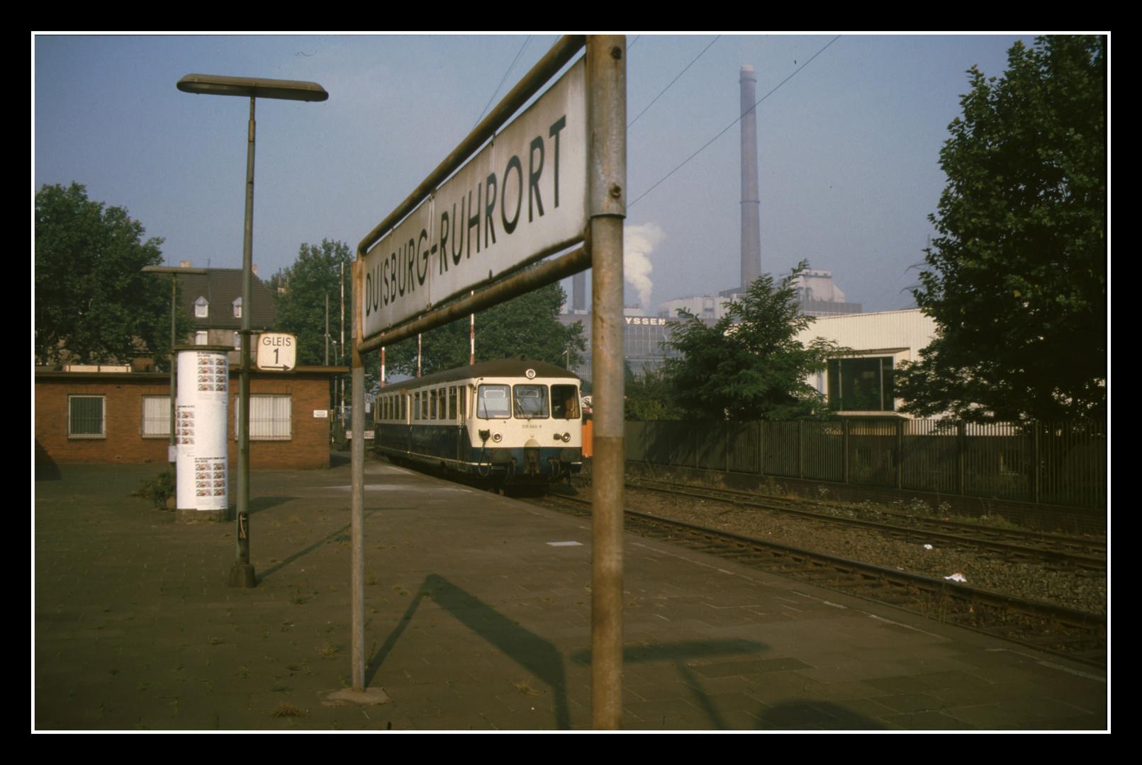 Duisburg Ruhrort im September 1985