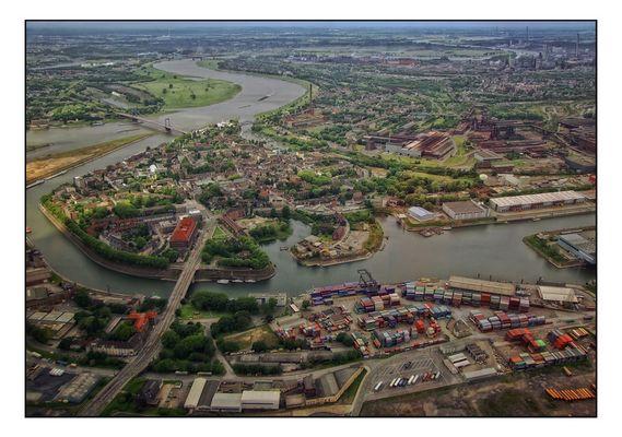 Duisburg Ruhrort von oben