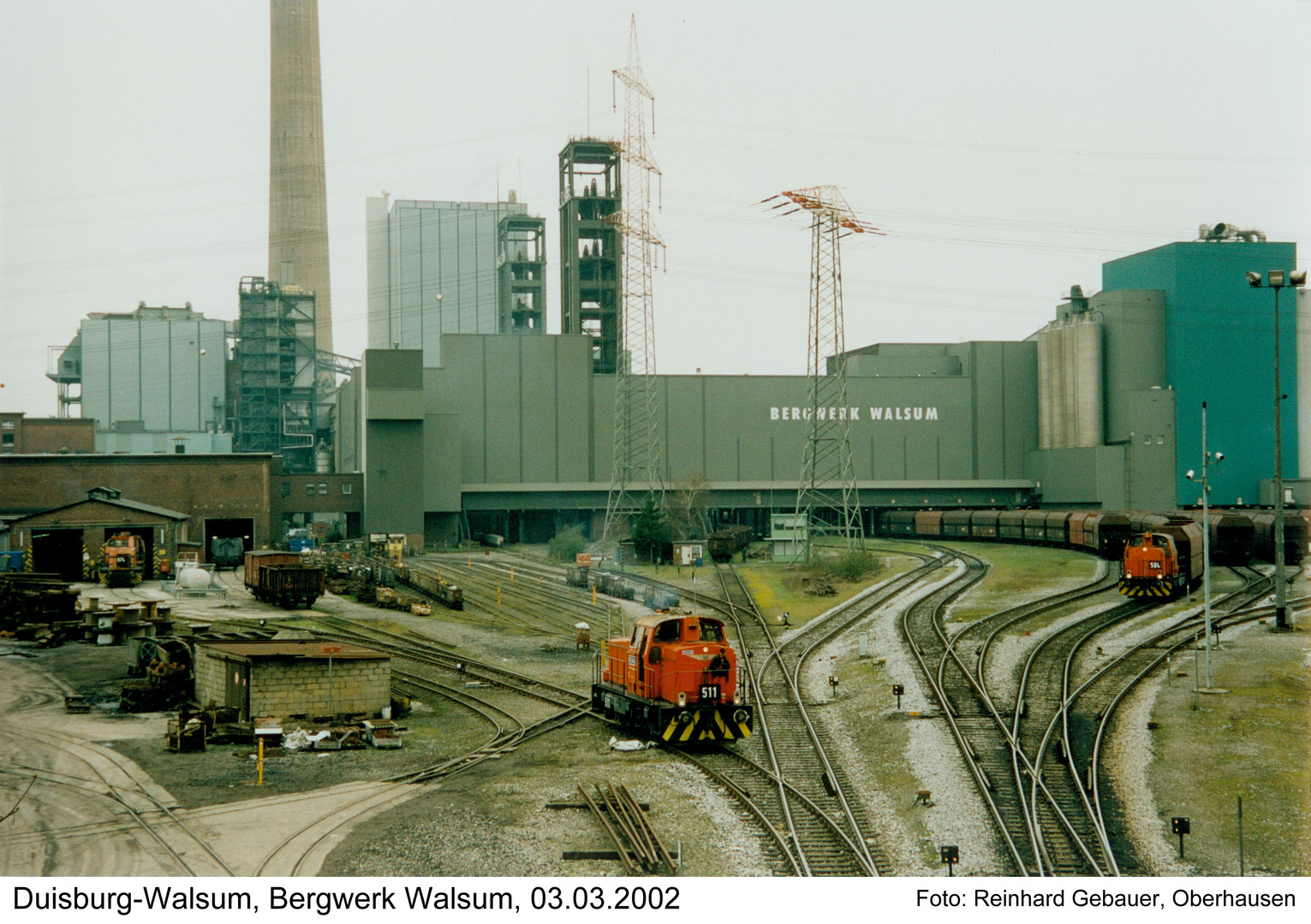 Duisburg Walsum Bergwerk Walsum 03 03 2002 Foto Bild