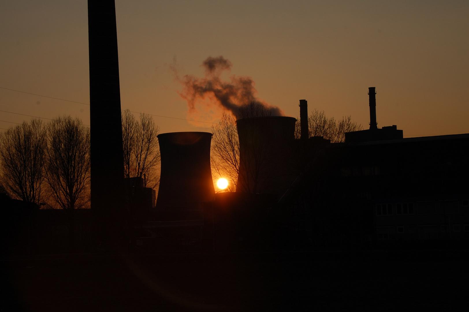Duisburger Sonnenuntergang