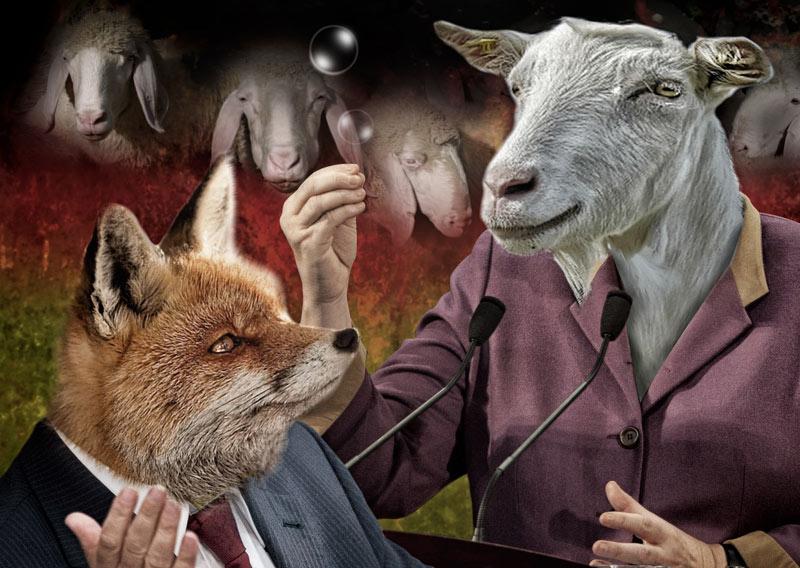 Dumme Ziege, schlauer Fuchs und blöde Schafe