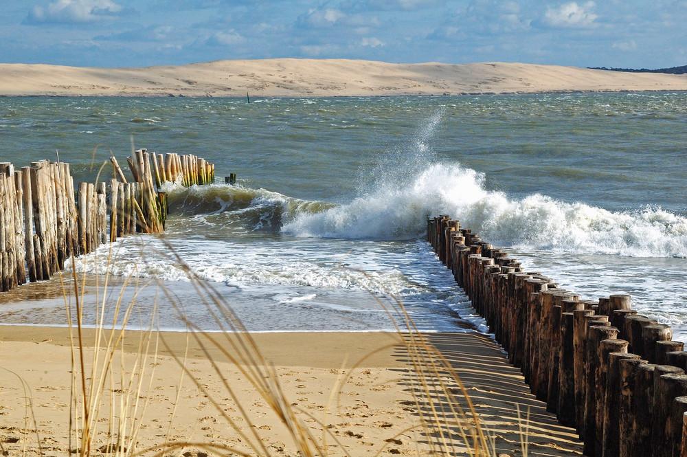 Dune du Pyla vue de la Pointe du Cap Ferret
