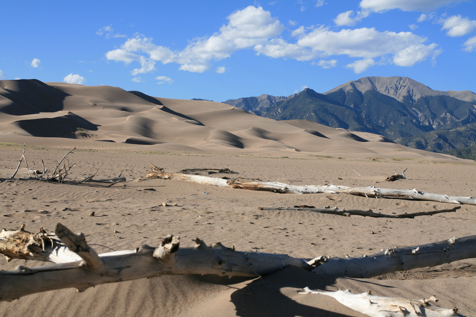 Dunes de sables au pied des montagnes Sangre de Cristo, Great Sand Dunes National Park, Colorado