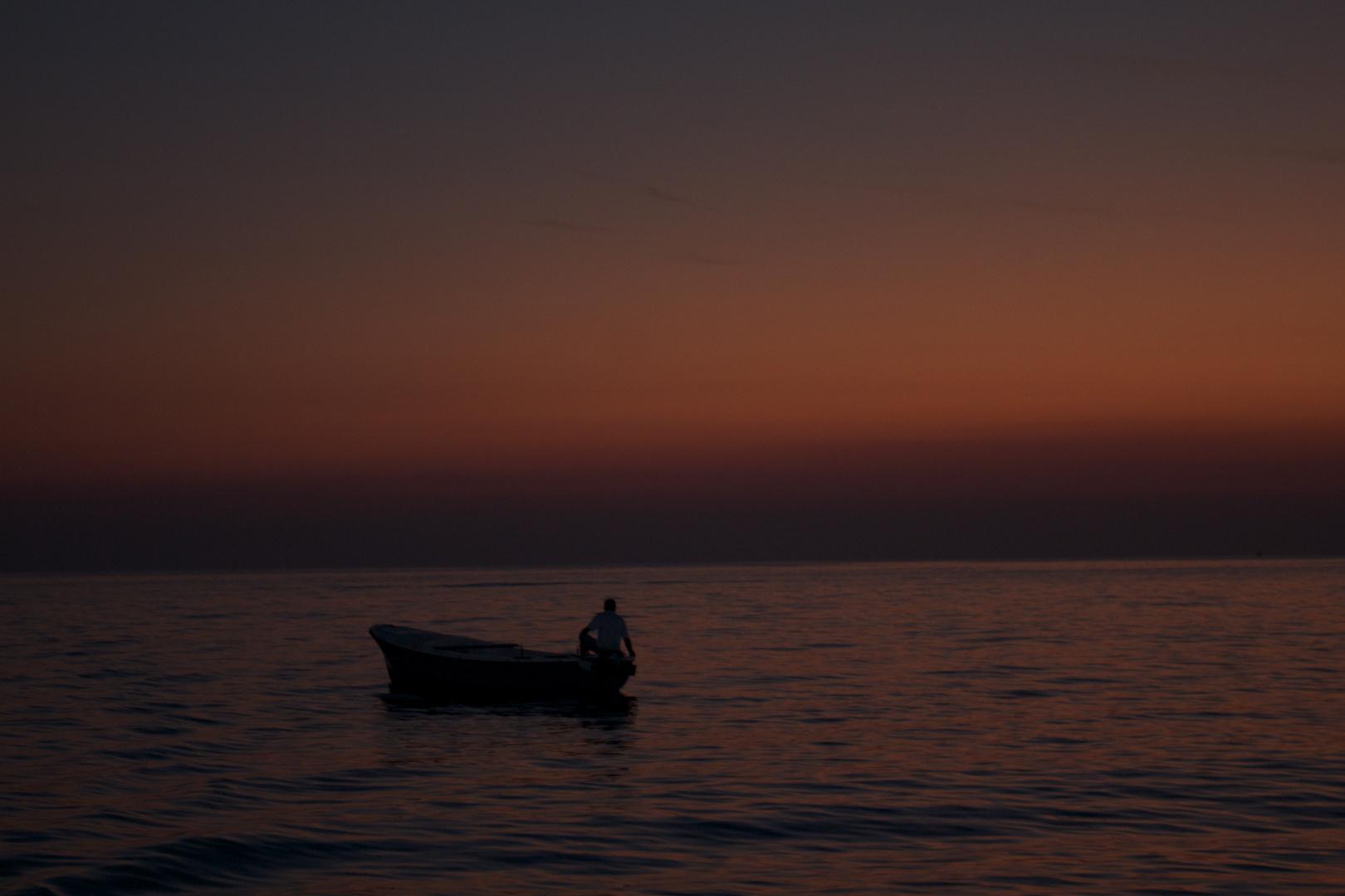 Dunkel über das Meer (Rovinj)