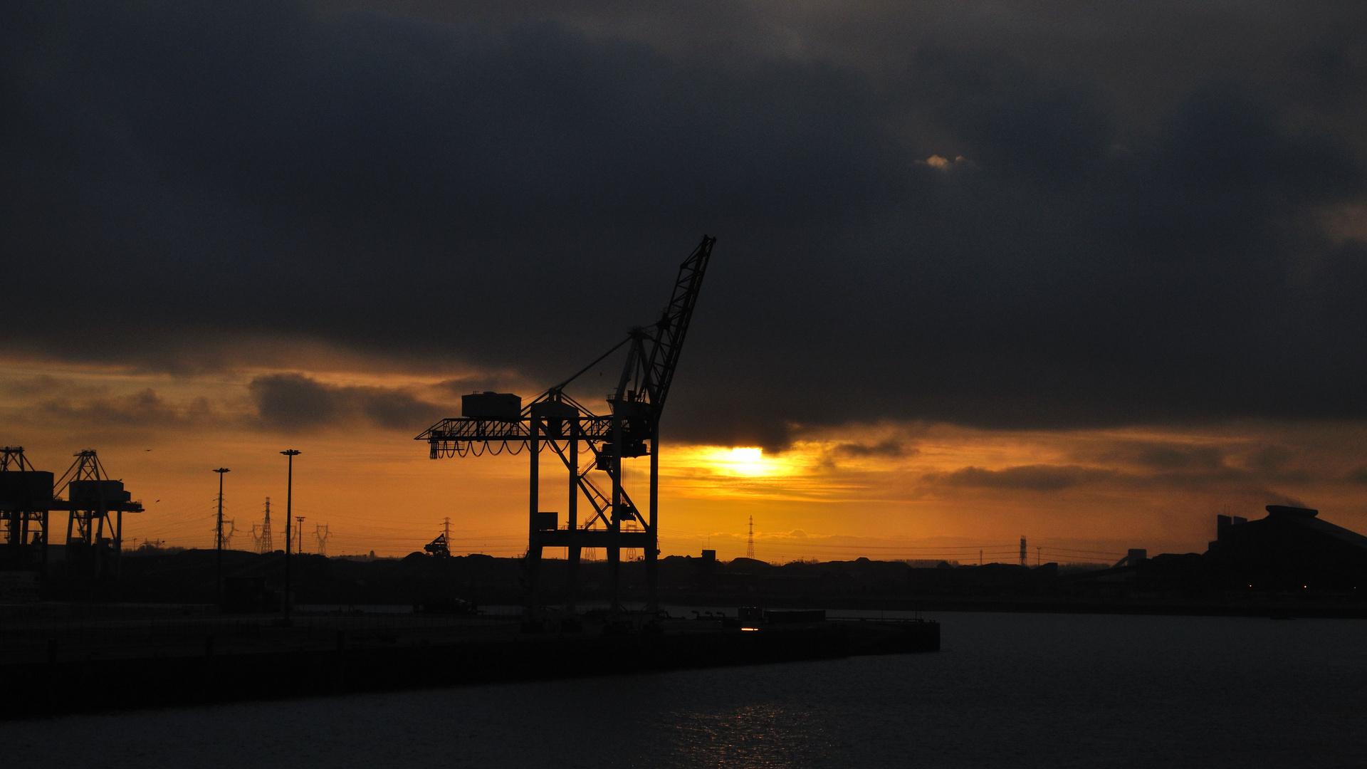 Dunkerque Frankreich - Containerhafen