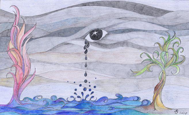 Dunkle Tränen