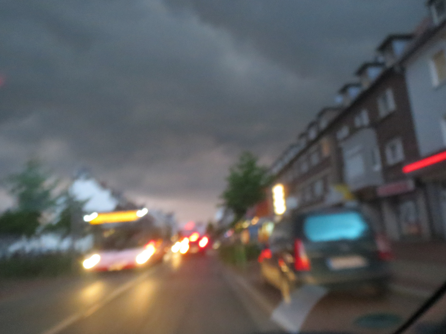 Dunkle Wolke
