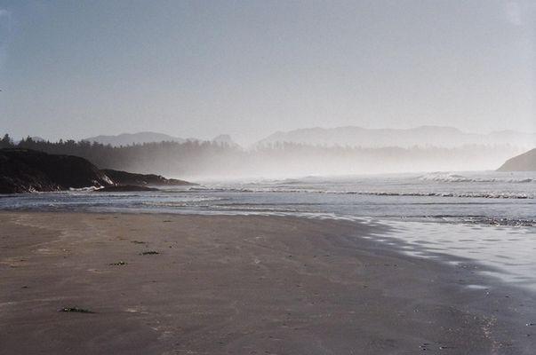 Dunst am Strand