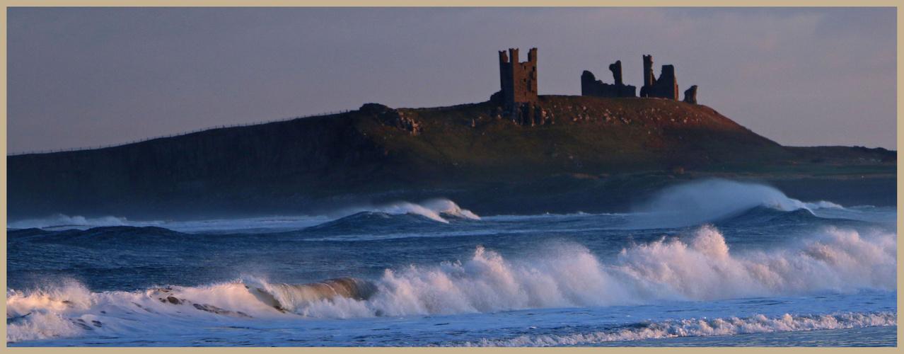 Dunstanburgh castle winter evening 1b