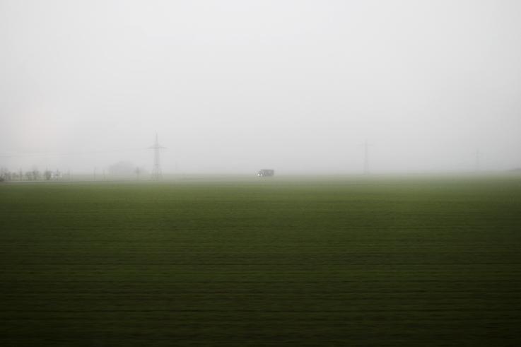 durch den nebel.