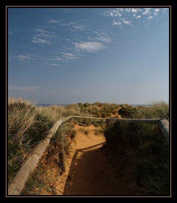 Durch die Dünen...