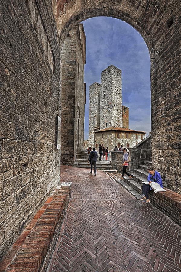 Durch die Gassen von San Gimignano