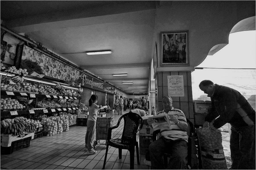 durch die Markthallen in Santa Cruz - Frutas Verduras