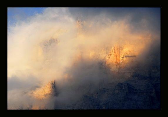 Durch die Wolken gekämpft....