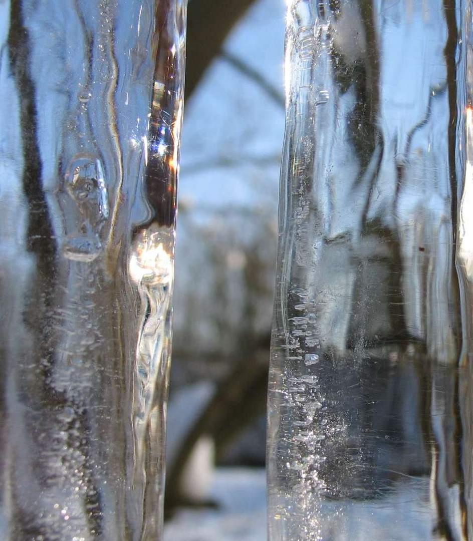 Durch Eis gesehen