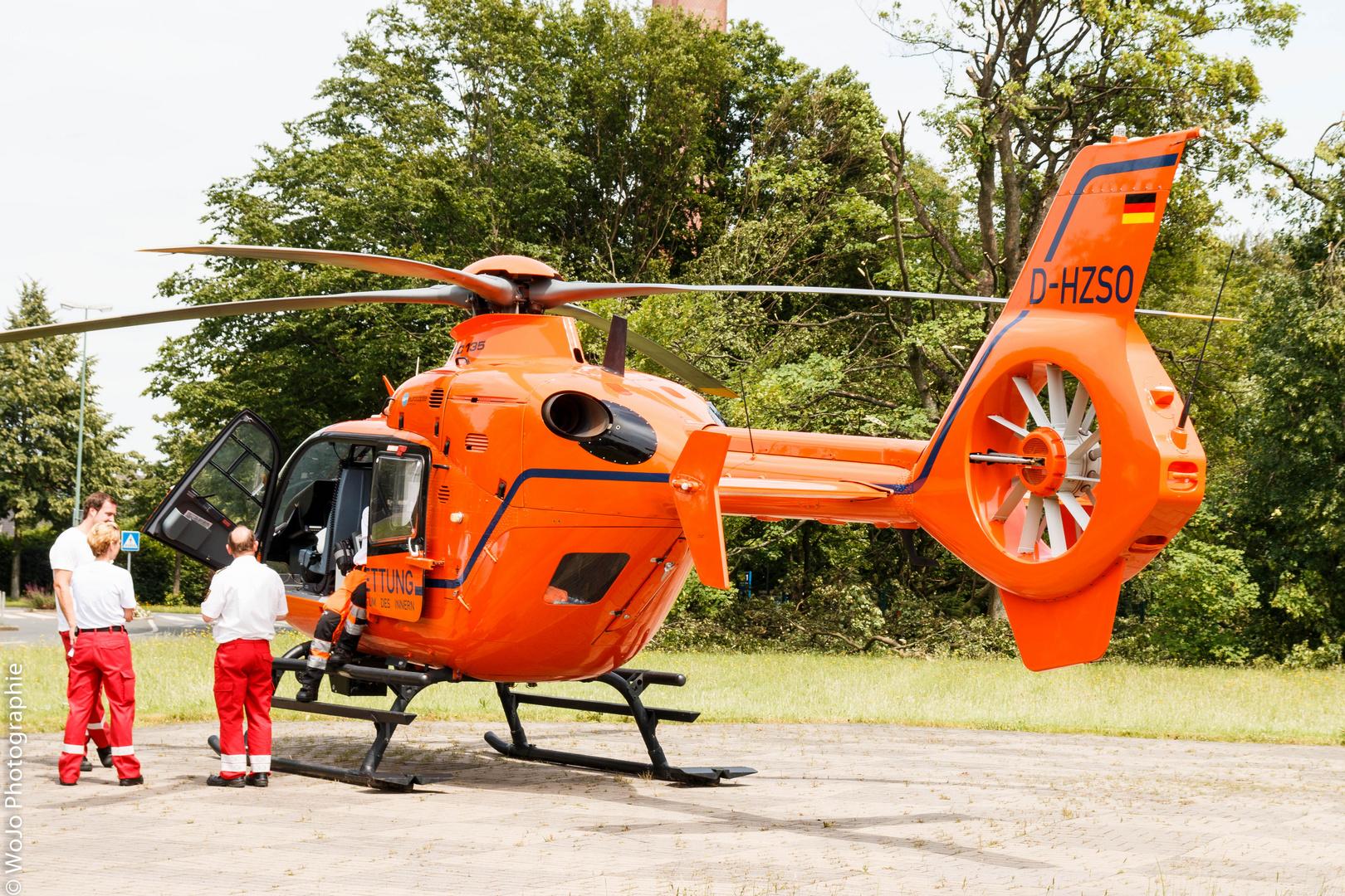 Durch Zufall stand er heute auf dem Landeplatz am Krupp Krankenhaus
