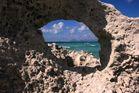 Durchblick von Formentera nach Ibiza