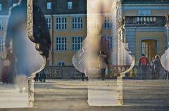 Durchblick zum Schloss Augustusburg Brühl