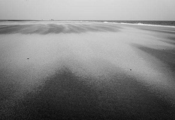 Durchpusten lassen am Strand