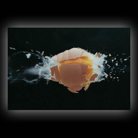 Durchschossenes Ei