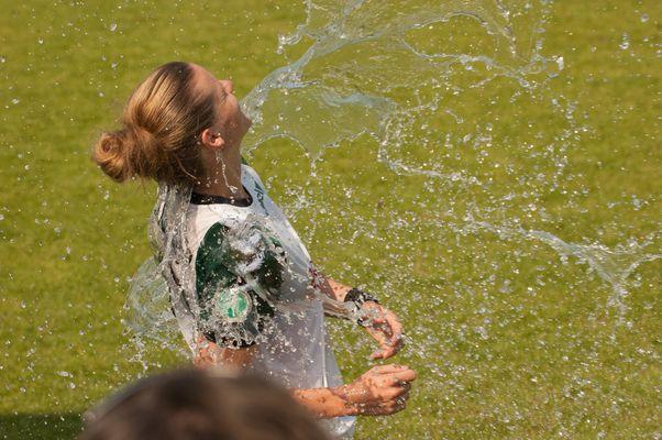 Dusche nach einem anstrengenden Spiel
