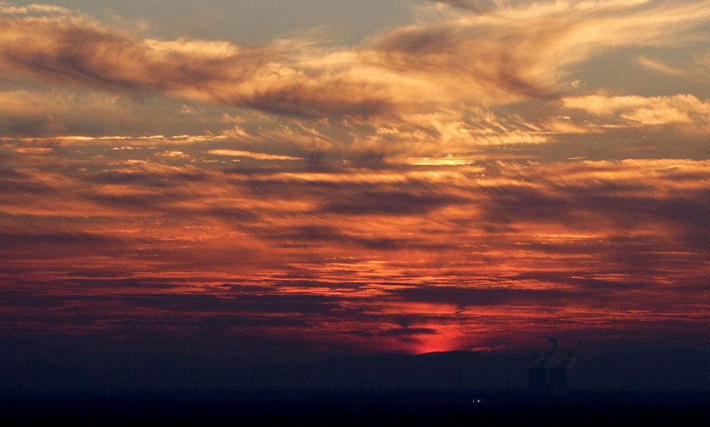 dusk behind Phillipsburg