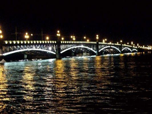 Dworzowy-Brücke in St. Petersburg /RUS