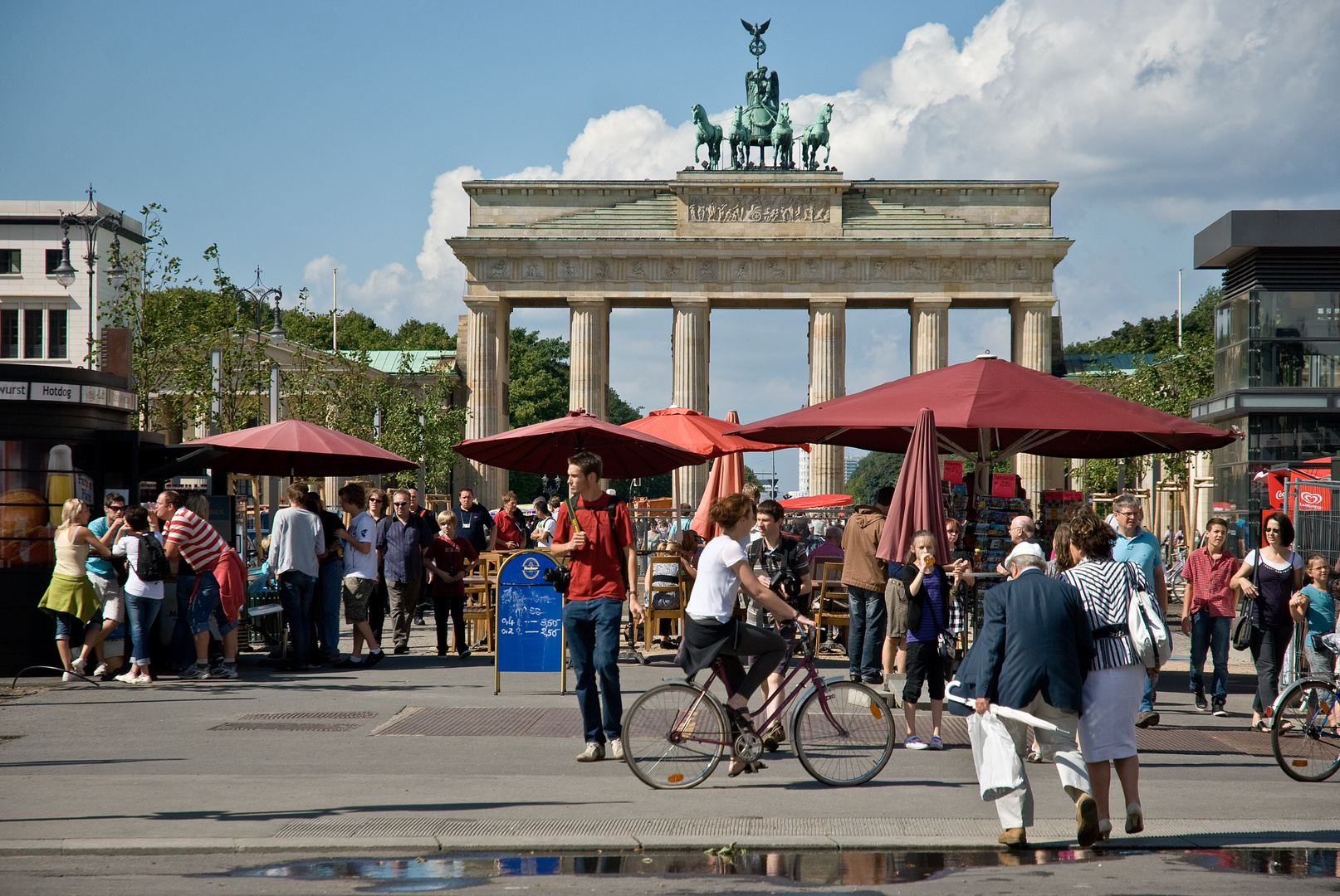 Dynamik am Brandenburger Tor