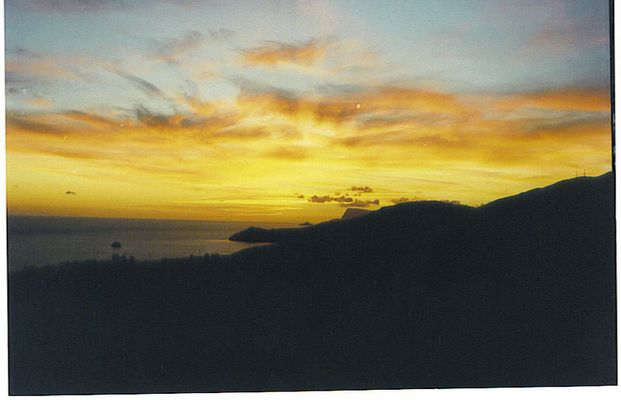 Dyskos Sonnenuntergang