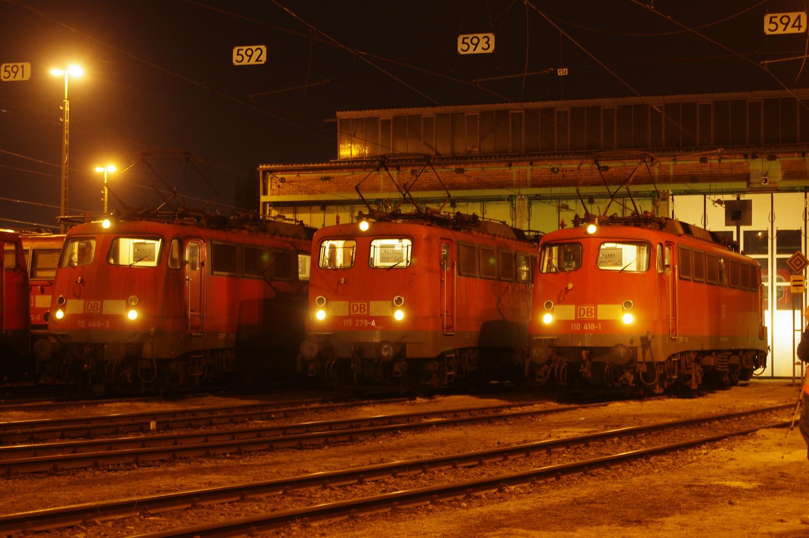 E 10 im Bw Stuttgart-Rosenstein