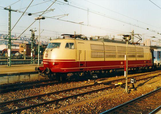 E 103 Januar 1992 Stuttgart Hbf
