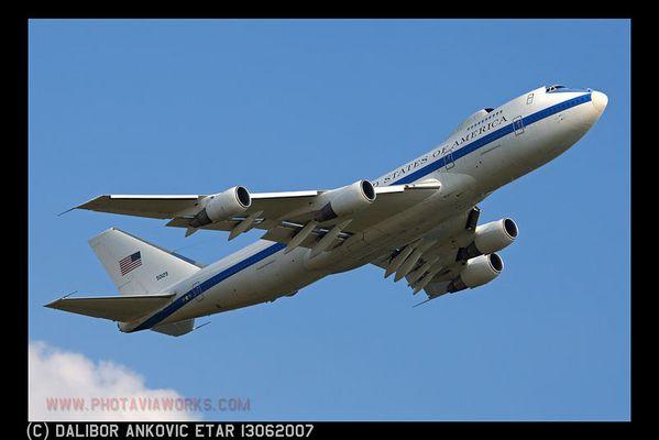 E-4B Take Off Ramstein Air Base