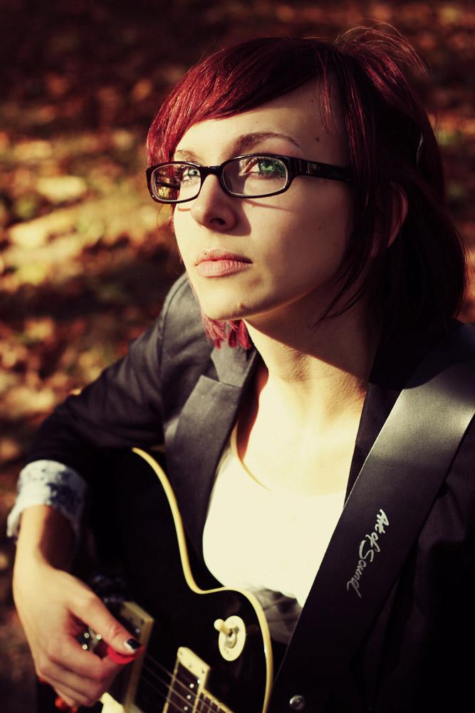 E-Gitarre im Herbst