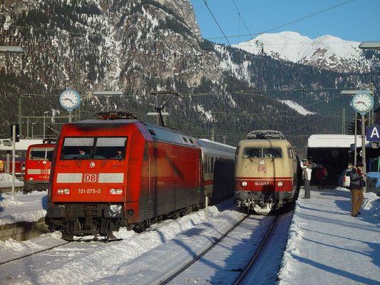 E Lok Treffen in Garmisch am 14.01.06