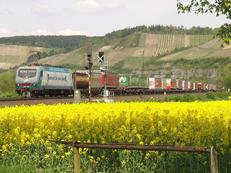 E412 013 im Rapsfeld