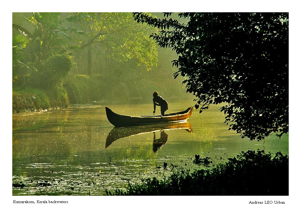 early morning in Kumarakom