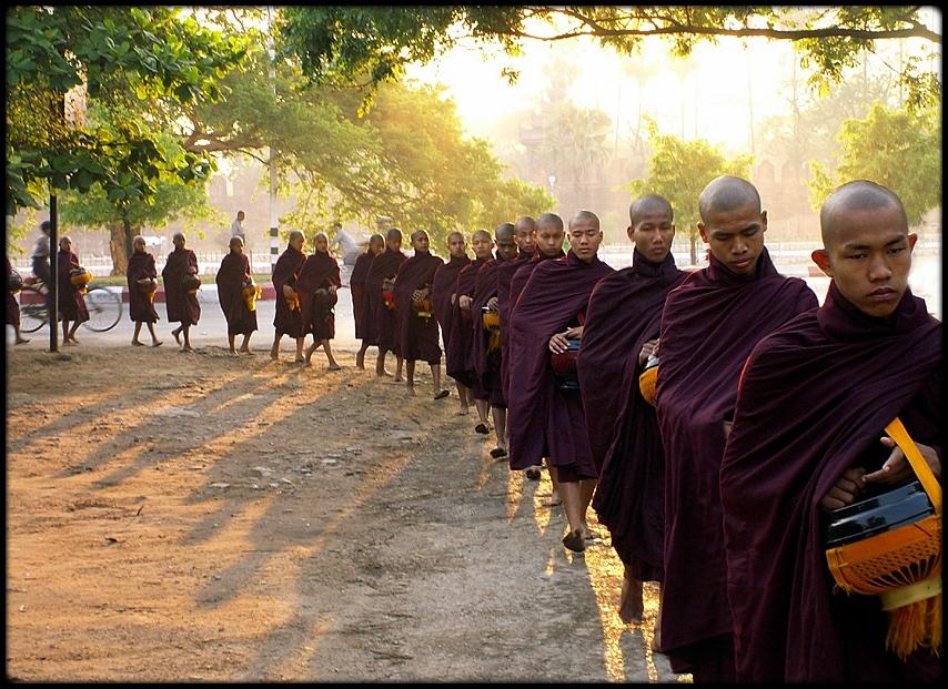 Early morning in Mandalay, Myanmar