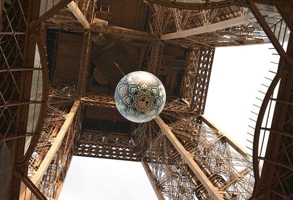 """Earth Crisis"" Artiste Shepard Fairey Tour Eiffel"