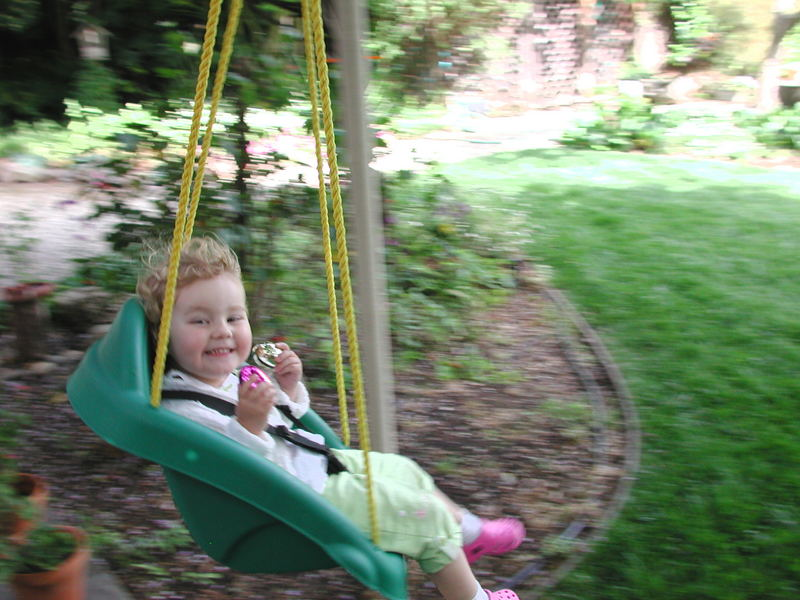 Easter Swing with eggs