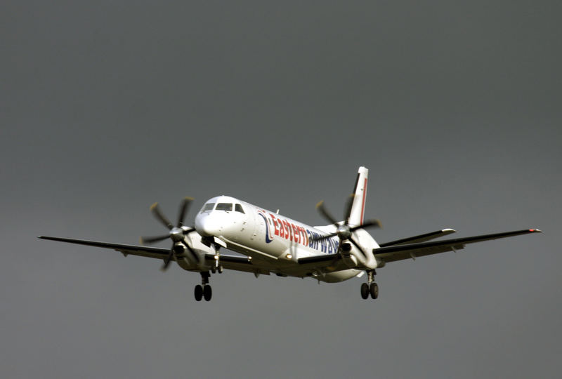 Eatern Airways approaching Norwich airport