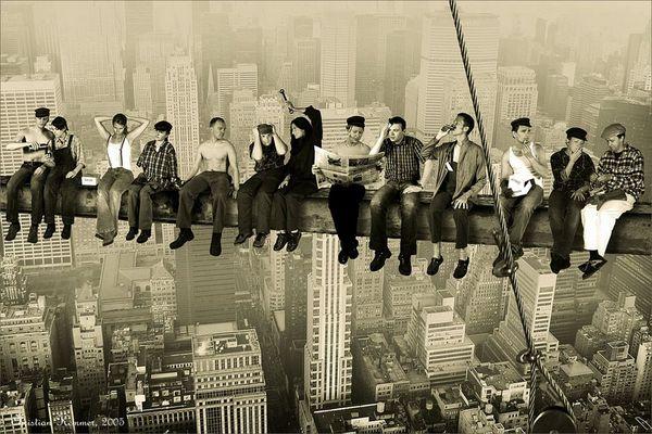 Eating above Manhattan