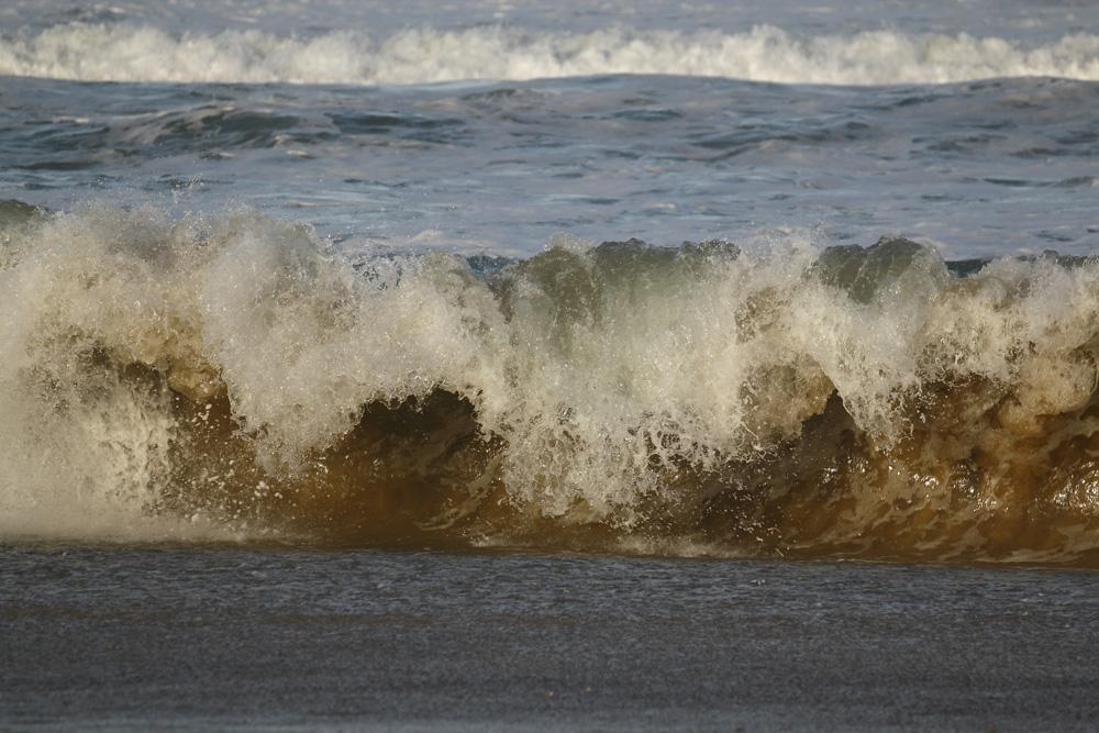 eau et sable mélangés !!!
